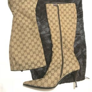 Authentic Gucci Tall Monogram Boots